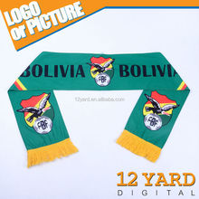 National fashion shawl& scarves for sport fans& promotion polyester scarves
