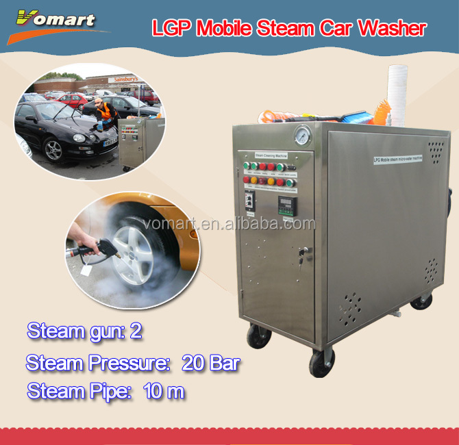 20bar LPG mobile steam car wash machine/steam industrial steam cleaners for sale