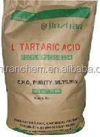 China supplier high quality and best price L/DL tartaric acid price of china (cas:147-71-7)