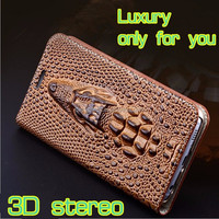 Genuine leather case for iphone 5 animal crocodile pattern fashion leather case for iphone 5