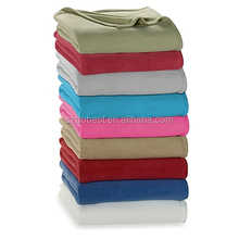 100% Polyester Solid Coral Fleece Blanket with Bow