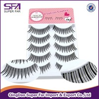 Permanent Korean Silk Black False Eyelashes wholesale / private label eyelash packaging