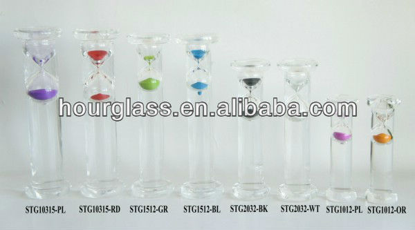 Colorful Water Sand Timer/Glass Hourglass/Liquid Motion