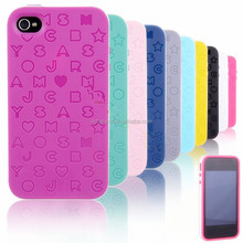 2 IN 1 Silicone Rubber Phone Case Cover Skins For APPLE IPHONE 4/4S Or 5/5S