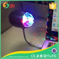 Disco light 4w RGB led rotating disco ball lamp