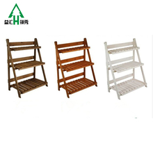 Famous Brand American Rural Style Wooden Flower Pot Stands Rack
