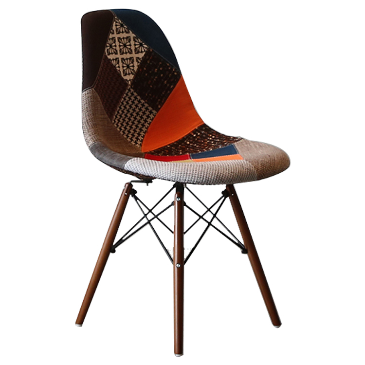 GY-4021 Best Sale Mid Century Modern Silla Fabric Seat Wood Legs Dinning Living Room Chair