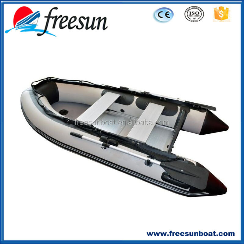 Freesun Manufacturer Inflatable Fishing Boat with Under Seat Bag and Front Bag