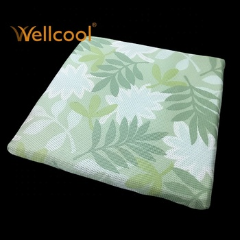 green leaves 3d spacer mesh air cooled seat cushion