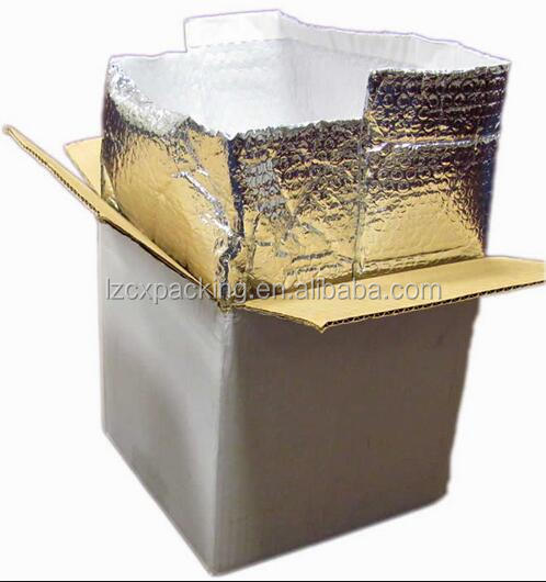 aluminum foil air bubble/epe foam for Insulated Shipping Box insert