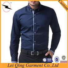Wholesale men pictures of formal button down long sleeve slim fit shirts