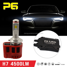 Car parts P6 LED bulb 12v 45W 4500LM h7 LED headlight replace Xenon hid kits China factory cheap sale