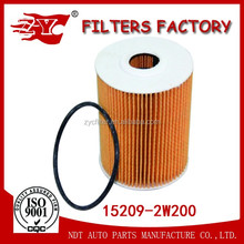 Custom Made Car Oil Filter Element Auto Oil Filter For Japanese Car RENAULT TRUCKS Filters 15209-2W200