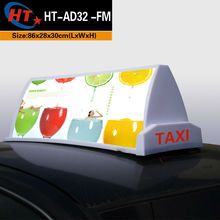 Taxi top advert taxi signal dome light box for advertising