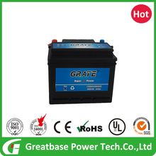 Qualified high quality 12V 45Ah capacity lead acid battery use for car starting