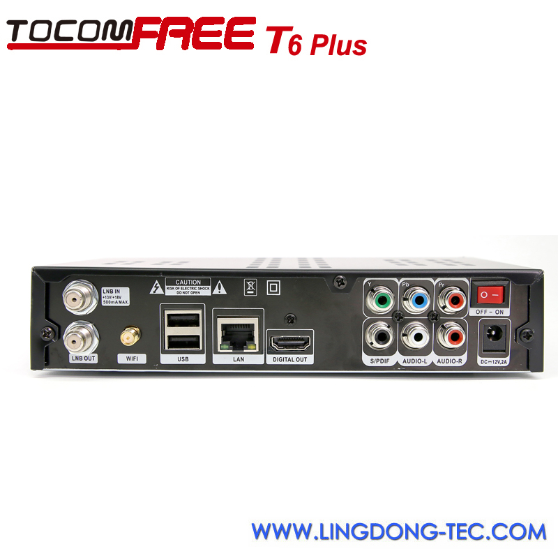 TOCOMFREE T6 PLUS Kodi TV Box Android 4.2 Satellite Receiver DVB-S2 usb tv tuner for android