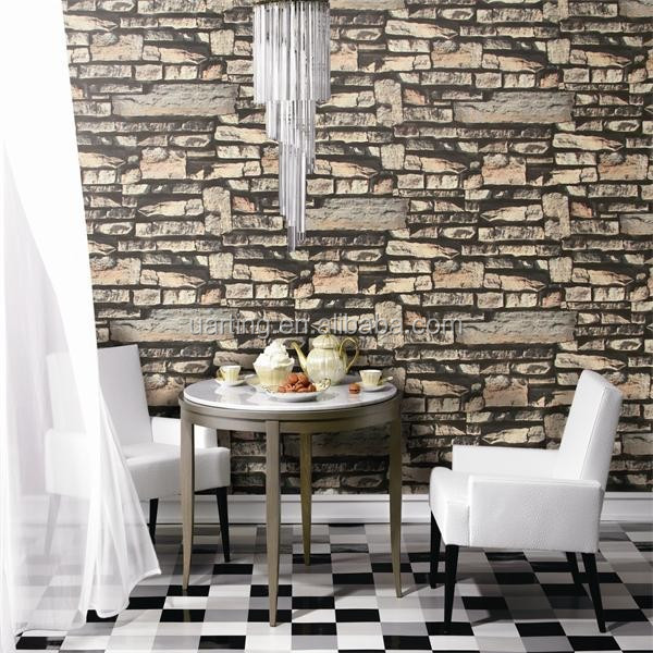 PVC Wood Stone Brick Wallpaper 3D Modern Wall Paper Luxury Classic Vintage Wallpaper Living Room Background Wall Deco