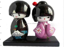 Wholesale New Style Handmade Wooden traditional japanese couple doll, lovely couple doll for sale