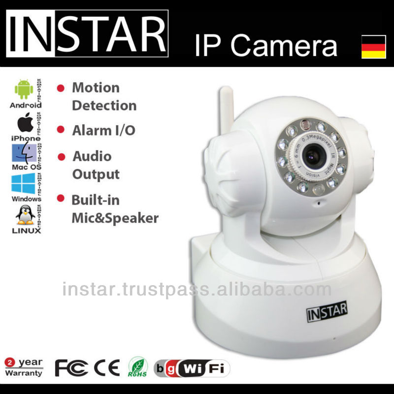 INSTAR IN-3010 Wireless Pan Tilt IP Camera