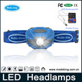 Factory Supply OEM ABS Material Cheap Price 3*aaa battery Operated Emergency 5 led Camping Headlamp Head Light with Head Strap