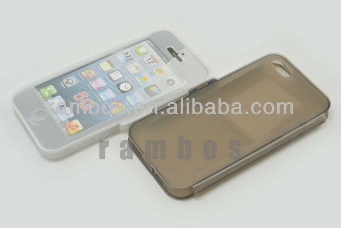 Crystal Clear TPU Gel Case Skin Cover with Front and Back Cover for iPhone 5 5S