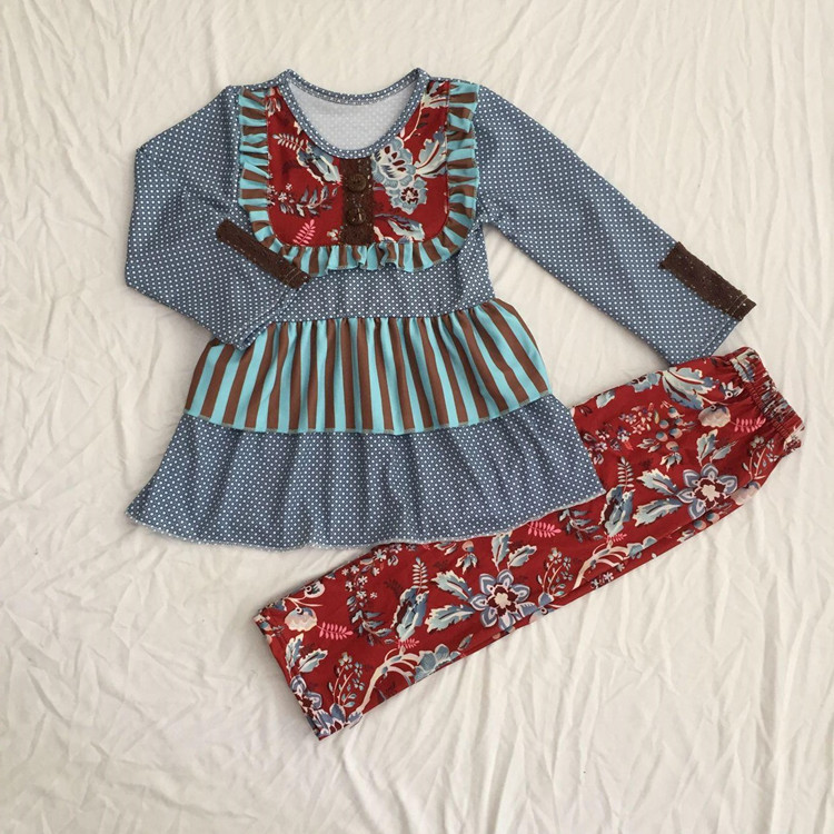 4030625a7 Wholesale children's clothes girl fashion first design lace suit girls  boutique clothing sets