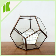 #~# Block Crystal Round Glass Vase | round, fish bowl design, thick lead wholesale geometric giant round glass bowl vase