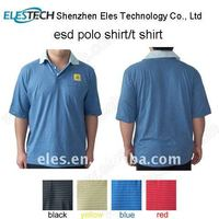 ESD POLO shirt Blue unisex knitted fabric Anti-static Polo shirt other colors available