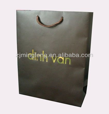 high quality screen printed laminated paper carrier bags wholesale