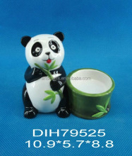 Panda shaped ceramic candle holder