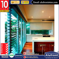 Guangzhou Alufront High quality adjustable aluminum glass shutters