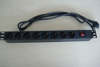 Germany 8 ways plastic shell PDU socket