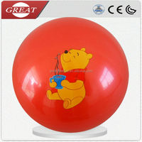 2014Sticker Cartoon Inflatable Plastic Toy Ball