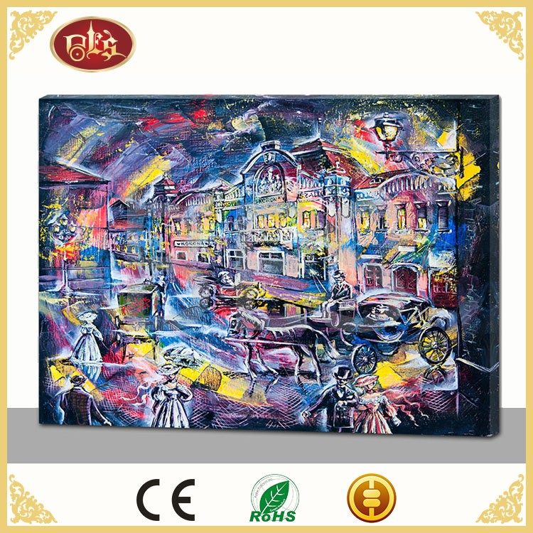 modern figurative canvas painting , different type of modern art painting