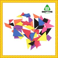 China Manufacturer Kids Plastic EVA Wooden Educational Tangram Toys Seven Piece Puzzle