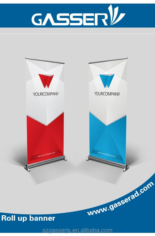 Factory custom aluminium steel banner connected outdoor banner frame