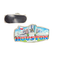 America Souvenirs Fridge Magnet Houston Hermann Park, Space Center Souvenir Magnet Metal