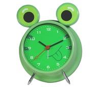 Metal decorative anolog frog shape animal table clock