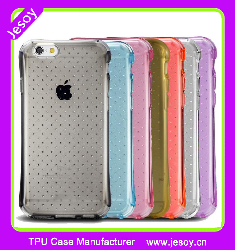 JESOY Shock Absorbing soft gel case cover for iPhone 6 7 Crystal TPU Clear Phone Case