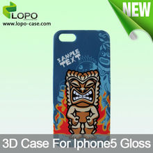 Heat Transfer sublimation 3D phone case for iphone 5/5S