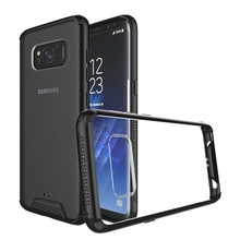 Hybrid Protective Clear Case for samsung galaxy s8+ with TPU Bumper