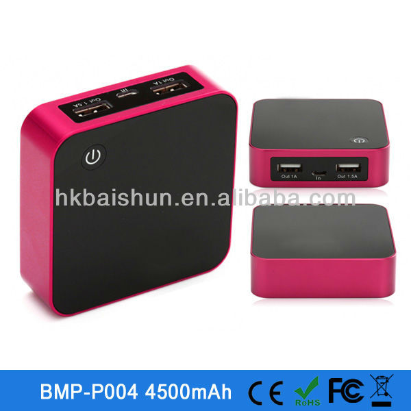 2013 new products 4500mAH power bank for ipad /cell phone shenzhen powerbank