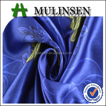 Mulinsen printed polyester wholesale silver satin fabric price/ nightdress fabric