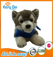 Customized Bsci GMP lay down soft huskie dog toys