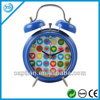 cheap metal two bell ring alarm clock