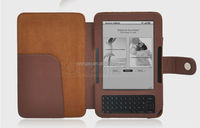 E- book Case Lichee Pattern PU Leather Case For Amazon Kindle 3