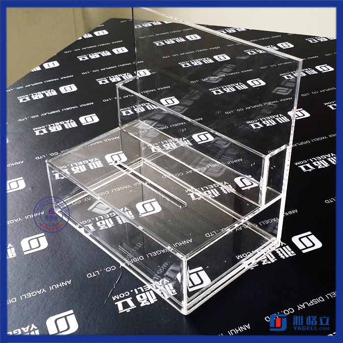 Acrylic Comment/Donation /Collection/ Ballot Box with Brochure Holder and Lock