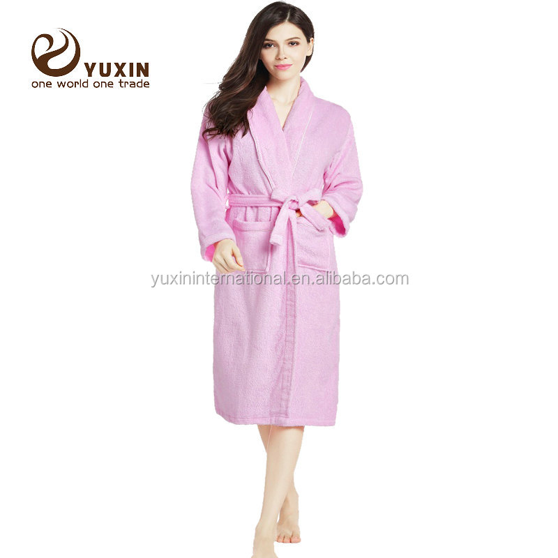 Customized Color Fleece robe Towel Robe Breathable Hotel Bath Robe FR004