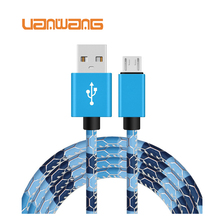 2017 colorful Micro USB 2.0 data cable