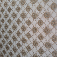 most popular gold thread embroidery fabrics for home texile and dress